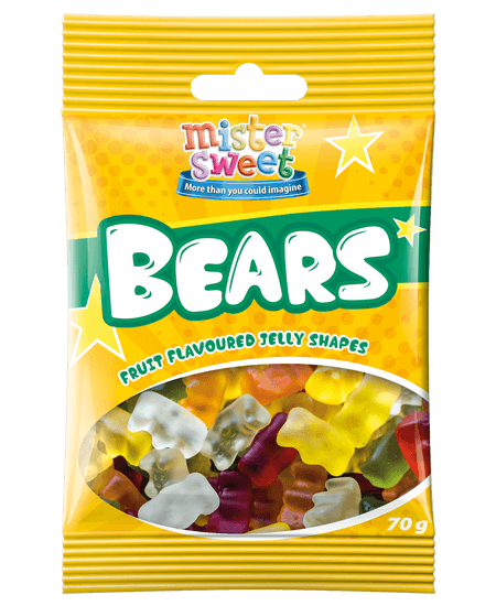 Mister Sweet  Bear 70g x 18 (New)
