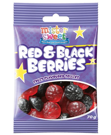 Mister Sweet Red & Black Berries 70g